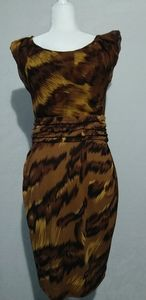 DVF Silk Jamila Palace Tiger Print Dress